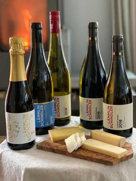 """Online Weinprobe Weinpaket """"Wein & Käse"""" – Livebegleitung ab 20 Haushalten"""