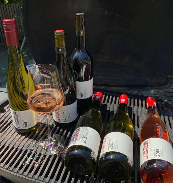 Grill-Weinpaket - 6 x 0,75 L inkl. 6 gratis Glasmarker