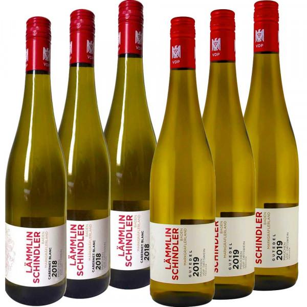 """Gutedel Cabernet Blanc Alternativ-Weinpaket """"Groß"""" - 6 x 0,75 L versandkostenfrei"""