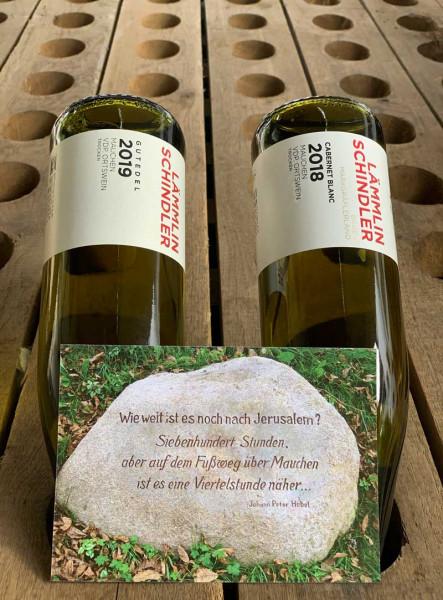 Gutedel Cabernet Blanc Alternativ-Weinpaket - 2 x 0,75 L versandkostenfrei